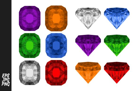 Print on Demand: Diamond and Gem Vector Graphic Crafts By Arief Sapta Adjie