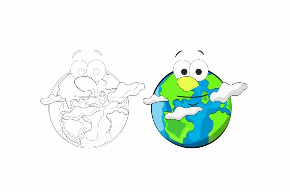 Earth Graphic Illustrations By printablesplazza