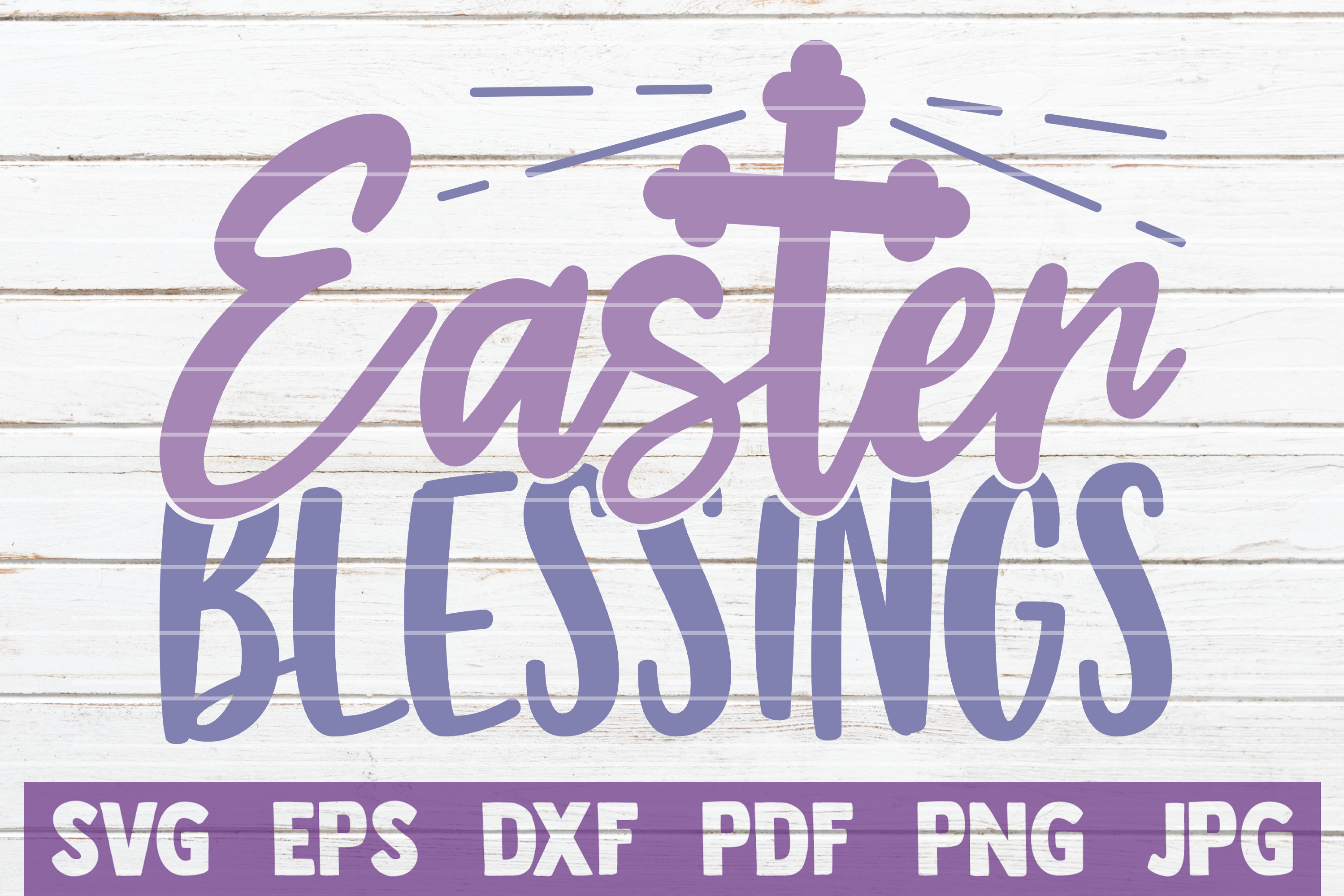 Download Free Easter Blessings Graphic By Mintymarshmallows Creative Fabrica for Cricut Explore, Silhouette and other cutting machines.