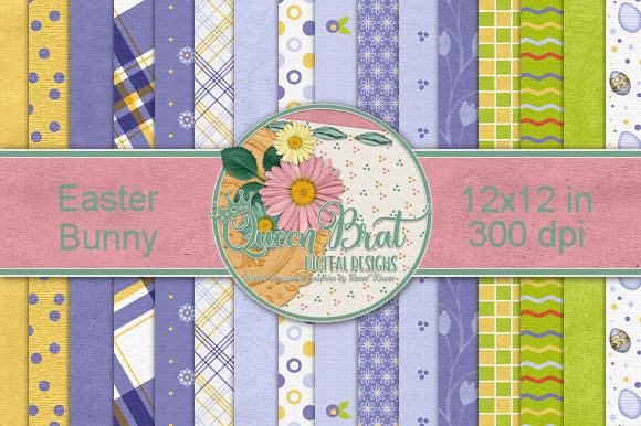 Download Free Easter Bunny Backgrounds Graphic By Queenbrat Digital Designs for Cricut Explore, Silhouette and other cutting machines.