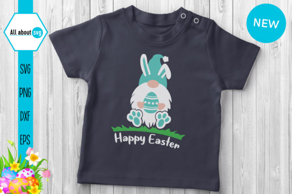 Download Free Easter Bunny Gnome Blue Graphic By All About Svg Creative Fabrica for Cricut Explore, Silhouette and other cutting machines.
