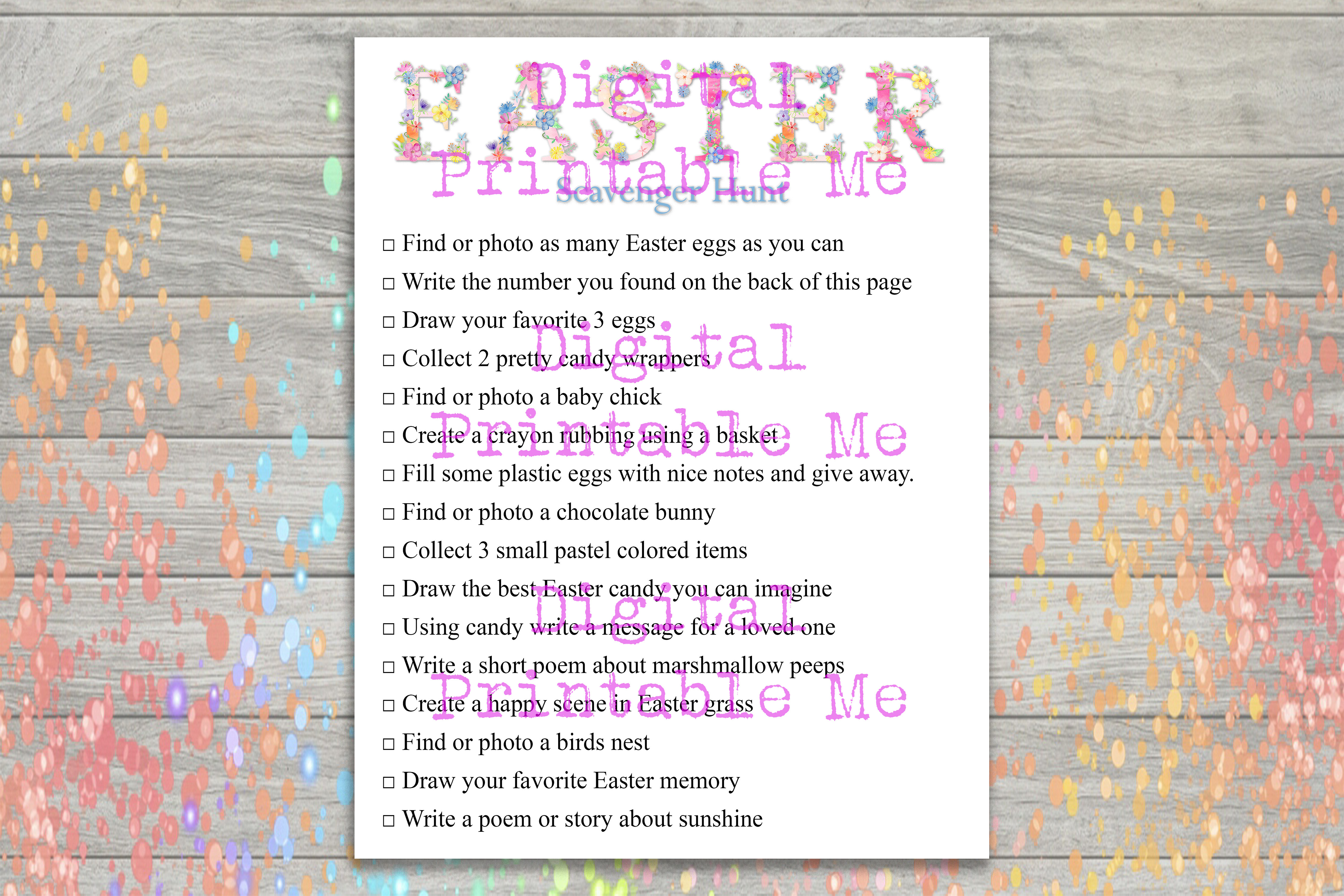 Download Free Easter Scavenger Hunt Party Game Kids Graphic By for Cricut Explore, Silhouette and other cutting machines.