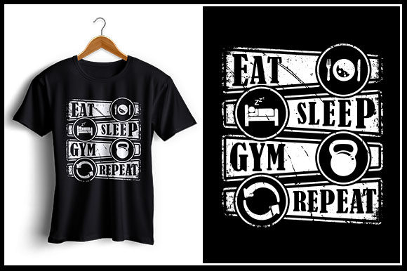 Download Free Eat Sleep Gym Repeat Grafik Von Zaibbb Creative Fabrica for Cricut Explore, Silhouette and other cutting machines.