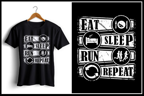 Download Free Eat Sleep Run Repeat Graphic By Zaibbb Creative Fabrica for Cricut Explore, Silhouette and other cutting machines.