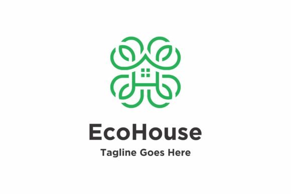 Eco House Logo Graphic Logos By ZHR Creative