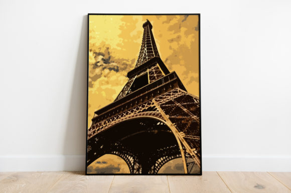 Print on Demand: Eifel Tower Illustration Graphic Illustrations By Silenic.co