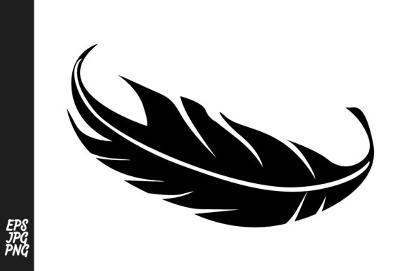 Download Free Feather Silhouette Vector Decoration Graphic By Arief Sapta for Cricut Explore, Silhouette and other cutting machines.