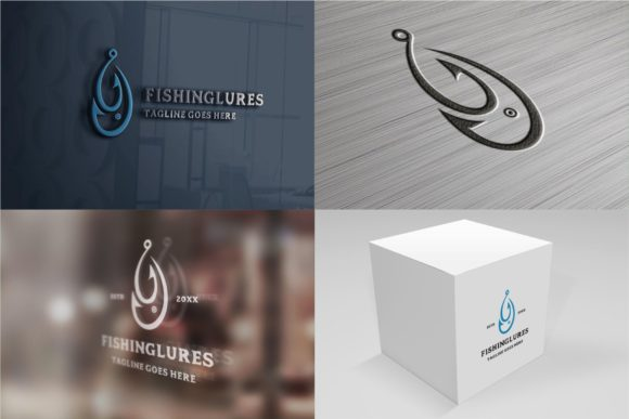 Download Free Fishing Lures Logo Graphic By Zhr Creative Creative Fabrica for Cricut Explore, Silhouette and other cutting machines.