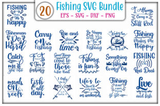 Print on Demand: Fishing Bundle Graphic Print Templates By GraphicsBooth