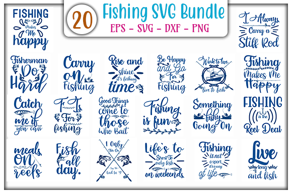Download Free Fishing Bundle Graphic By Graphicsbooth Creative Fabrica for Cricut Explore, Silhouette and other cutting machines.