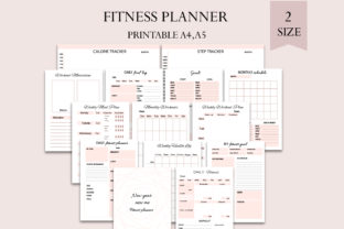 Fitness Planner Graphic Print Templates By Igraphic Studio