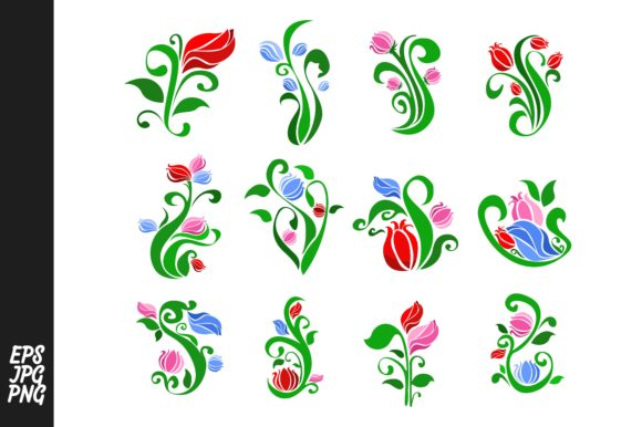 Print on Demand: Flora Ornament with Flower Decoration Graphic Crafts By Arief Sapta Adjie