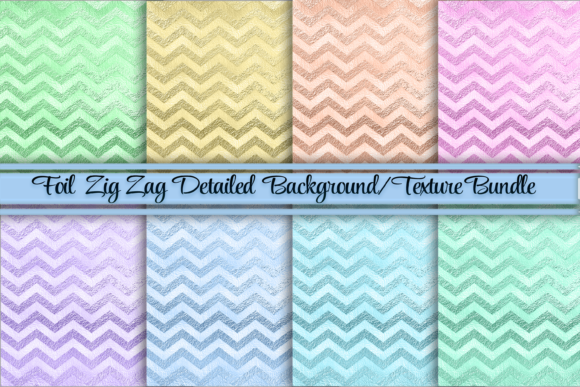 Foil Zig Zag Design Background/Textures Graphic Backgrounds By AM Digital Designs