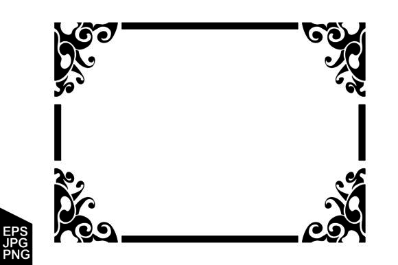 Print on Demand: Frame Border Ornament Vector Graphic Crafts By Arief Sapta Adjie
