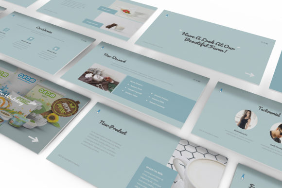 Download Free Fresh Milk Google Slides Template Graphic By Formatikastd for Cricut Explore, Silhouette and other cutting machines.