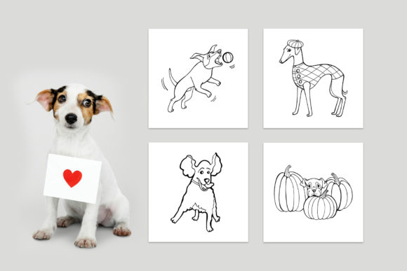 Funny Dog Coloring Book Graphic Coloring Pages & Books Kids By NataliMyaStore - Image 3