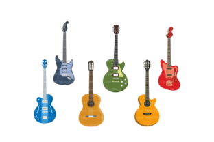 Print on Demand: Guitar Clipart, Guitar, Vector Graphic Crafts By SVG DEN