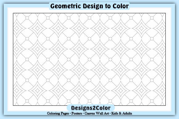 Print on Demand: Geometric Design #00533 Graphic Coloring Pages & Books Adults By Designs 2 Color