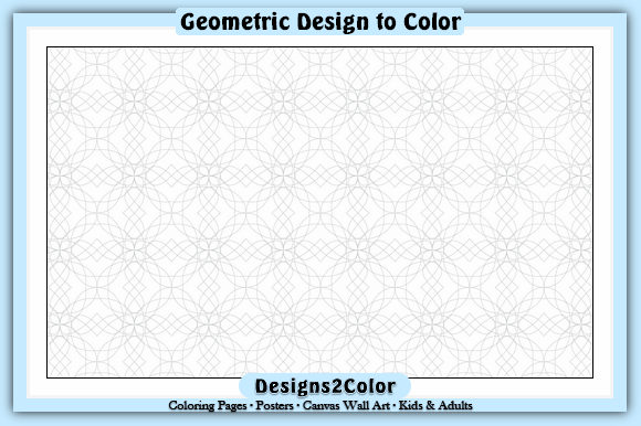 Print on Demand: Geometric Design #01439 Graphic Coloring Pages & Books Adults By Designs 2 Color