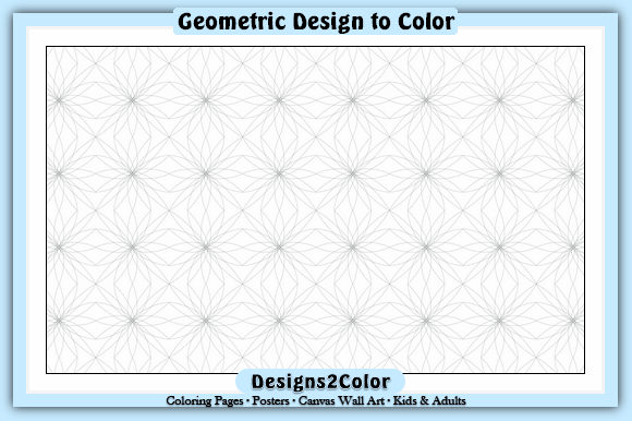 Print on Demand: Geometric Design #01505 Graphic Coloring Pages & Books Adults By Designs 2 Color