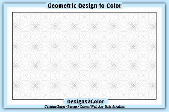 Print on Demand: Geometric Design #01529 Graphic Coloring Pages & Books Adults By Designs 2 Color