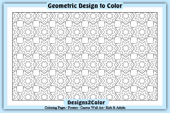 Print on Demand: Geometric Design #11817 Graphic Coloring Pages & Books Adults By Designs 2 Color