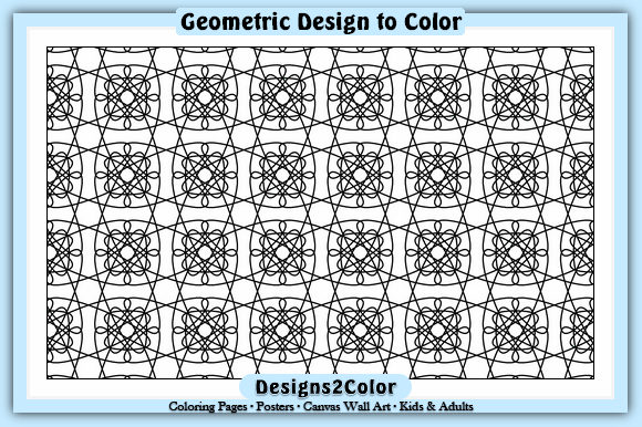 Print on Demand: Geometric Design #12117 Graphic Coloring Pages & Books Adults By Designs 2 Color