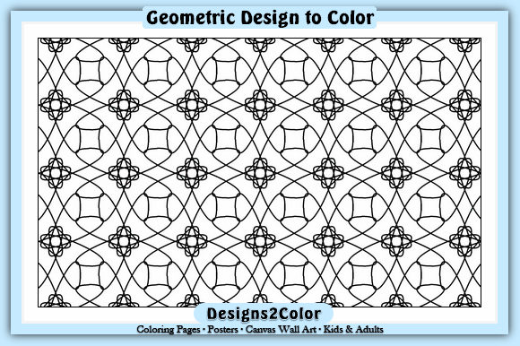 Print on Demand: Geometric Design #12228 Graphic Coloring Pages & Books Adults By Designs 2 Color