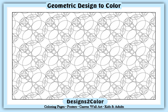 Print on Demand: Geometric Design #35736 Graphic Coloring Pages & Books Adults By Designs 2 Color