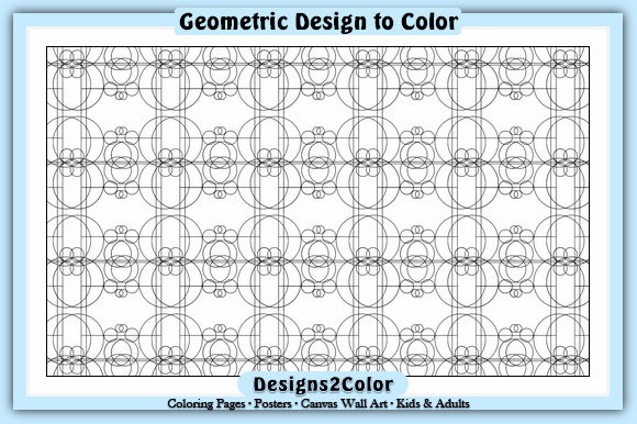 Print on Demand: Geometric Design #51059 Graphic Coloring Pages & Books Adults By Designs 2 Color
