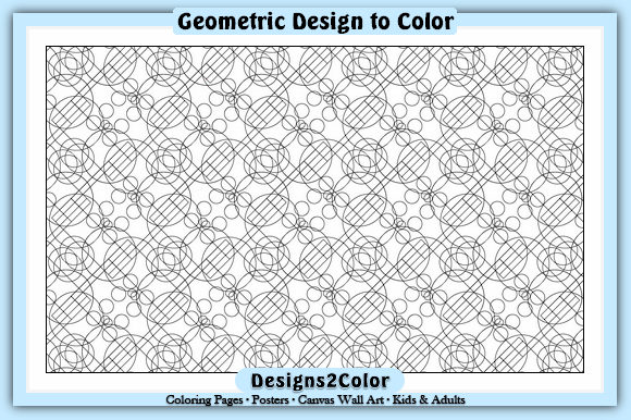 Print on Demand: Geometric Design #51119 Graphic Coloring Pages & Books Adults By Designs 2 Color