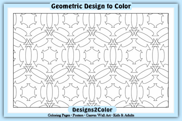 Print on Demand: Geometric Design #60836 Graphic Coloring Pages & Books Adults By Designs 2 Color