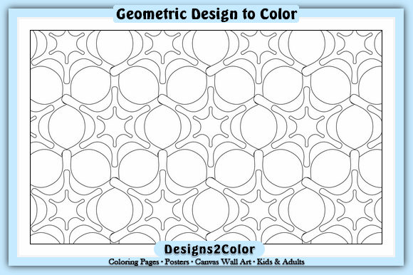 Print on Demand: Geometric Design #61033 Graphic Coloring Pages & Books Adults By Designs 2 Color