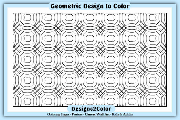 Print on Demand: Geometric Design #83528 Graphic Coloring Pages & Books Adults By Designs 2 Color
