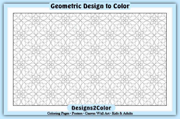 Print on Demand: Geometric Design #90801 Graphic Coloring Pages & Books Adults By Designs 2 Color