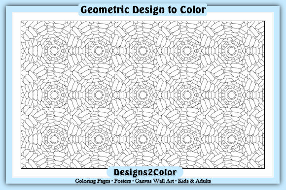 Print on Demand: Geometric Design #91013 Graphic Coloring Pages & Books Adults By Designs 2 Color