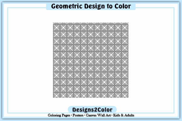 Print on Demand: Geometric Design #92421 Graphic Coloring Pages & Books Adults By Designs 2 Color