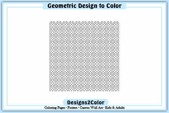 Print on Demand: Geometric Design #92458 Graphic Coloring Pages & Books Adults By Designs 2 Color