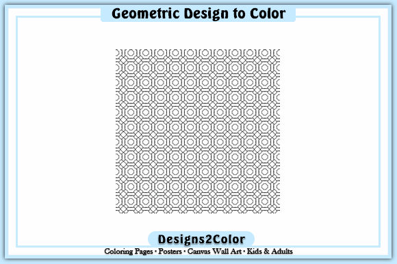 Print on Demand: Geometric Design #92540 Graphic Coloring Pages & Books Adults By Designs 2 Color
