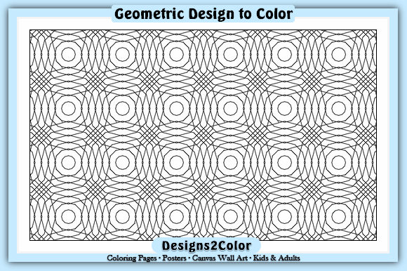 Print on Demand: Geometric Design #92637 Graphic Coloring Pages & Books Adults By Designs 2 Color