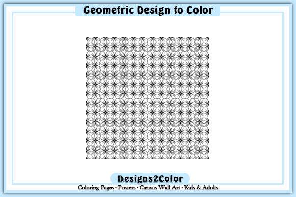 Print on Demand: Geometric Design #92759 Graphic Coloring Pages & Books Adults By Designs 2 Color