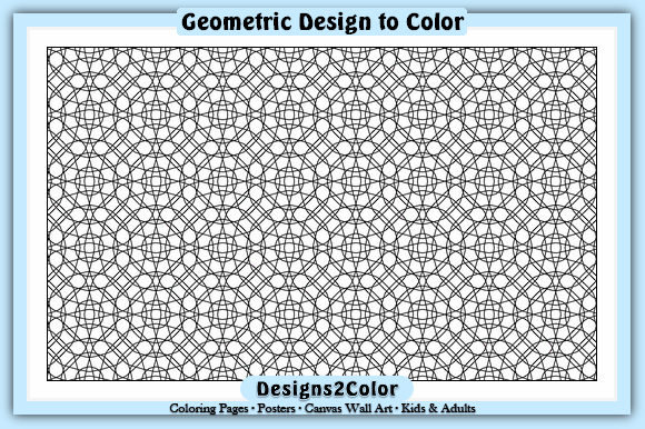 Print on Demand: Geometric Design #92958 Graphic Coloring Pages & Books Adults By Designs 2 Color