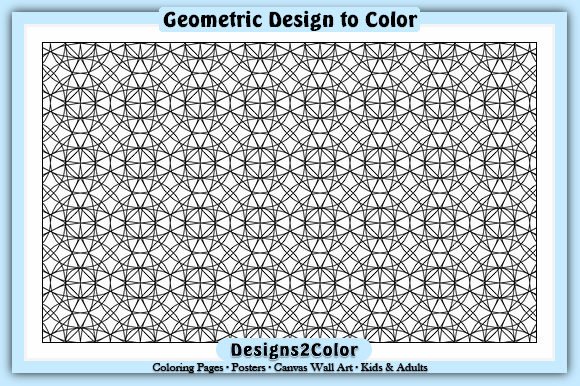 Print on Demand: Geometric Design #93014 Graphic Coloring Pages & Books Adults By Designs 2 Color