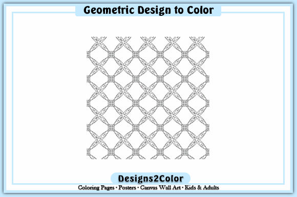 Print on Demand: Geometric Design #93125 Graphic Coloring Pages & Books Adults By Designs 2 Color