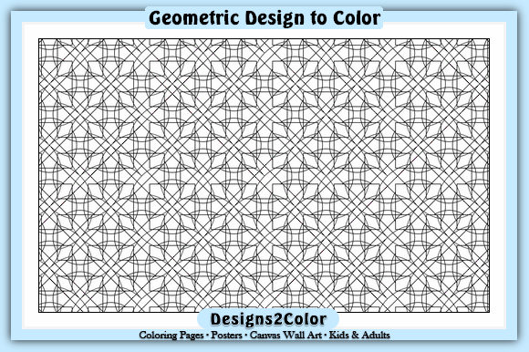 Print on Demand: Geometric Design Gráfico Libros para colorear - Adultos Por Designs 2 Color