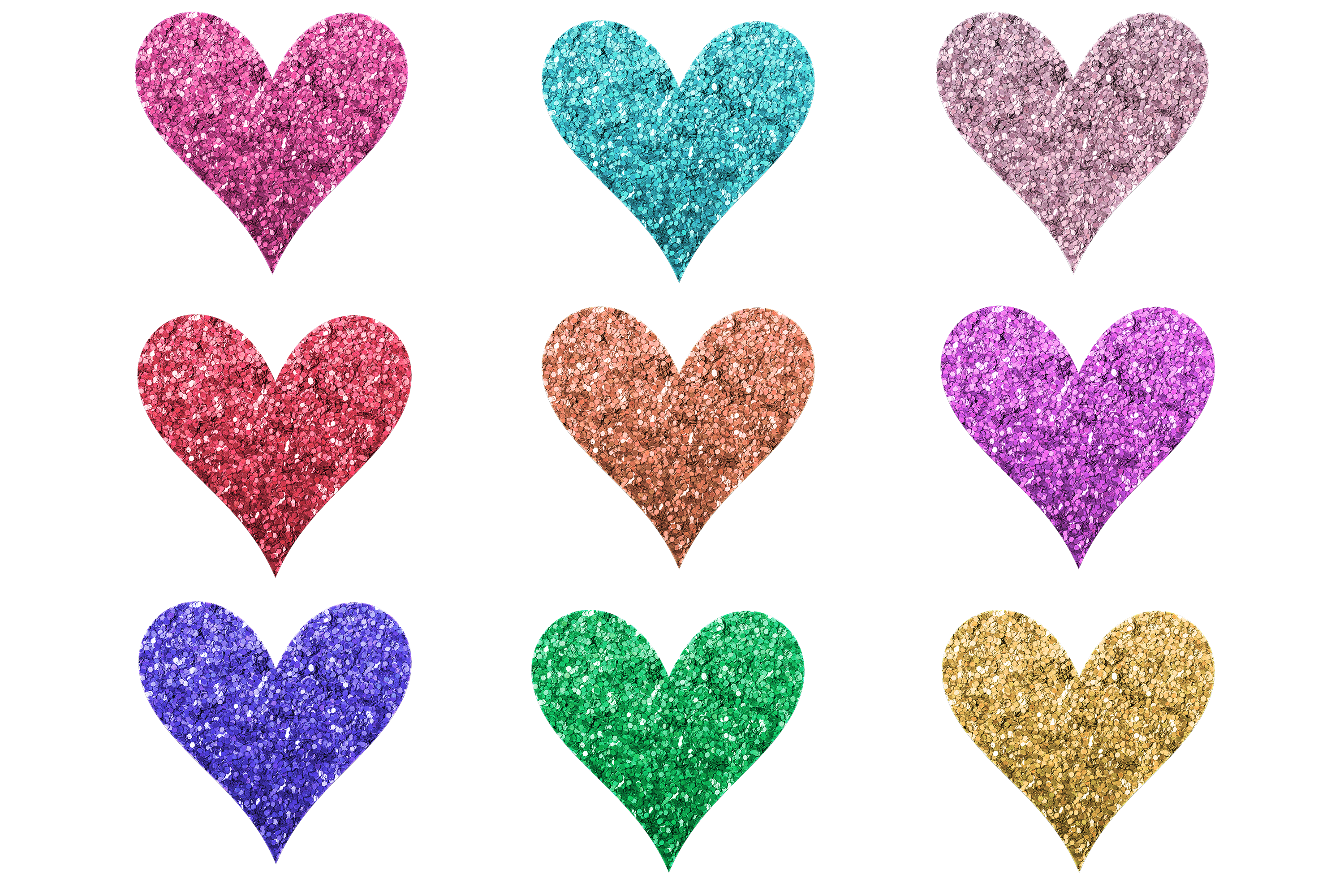 Download Free Glitter Hearts Clipart Or Stickers Graphic By Am Digital Designs for Cricut Explore, Silhouette and other cutting machines.