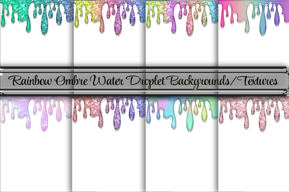 Print on Demand: Glitter and Ombre Chrome Liquid Texture Graphic Backgrounds By AM Digital Designs
