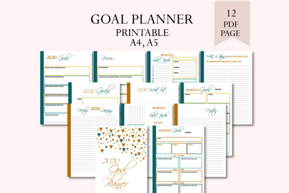 Goal Planner Graphic Print Templates By Igraphic Studio
