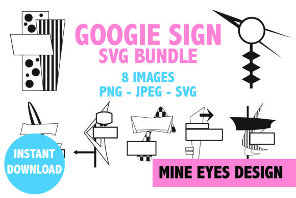Print on Demand: Googie Sign Clipart - Mid Century Modern Graphic Illustrations By Mine Eyes Design - Image 1