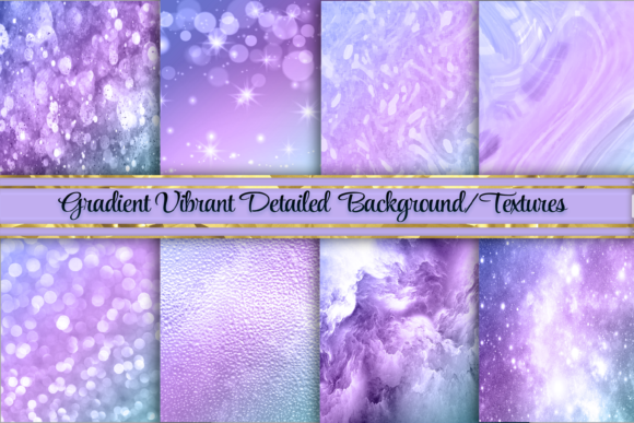 Print on Demand: Gorgeous Metal Ombre Background/Textures Gráfico Fondos Por AM Digital Designs